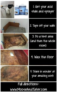How to avoid stain concrete. Perfect for the basement floor!