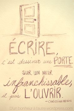 Écrire, c'est dessiner une porte
