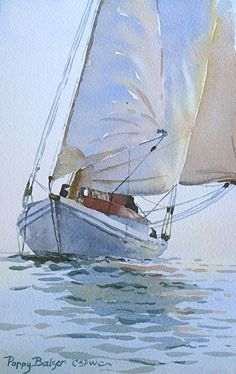 Three Sails - Watercolor