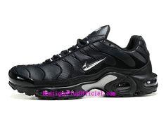 wholesale dealer 6044a 4499b Nike Air Max Plus Chaussures Officiel Tn Basket Pas Cher Pour Homme Noir  Blanc 647315-