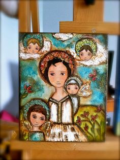 Reserved Listing for Lizbeth   Original Mixed Media by FlorLarios, $175.00