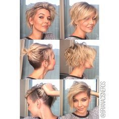 super versatile undercut. I started with a short square bob, clipper cut out a section from the underneath and left side then scissor over combed the right side using my natural parting. Then I cut myself some bangs and razored out the back and sides some more.Warning: best on individuals with average to thick hair.