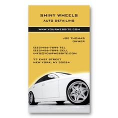 Auto Detailing Cars Business Card Zazzle Com Car Detailing