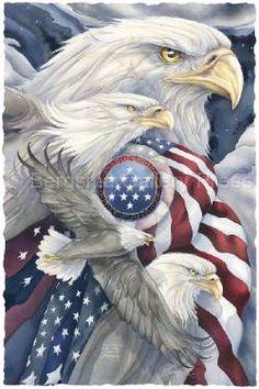 Bergsma Gallery Press::Paintings::Natural Elements::Patriotic::Together We Stand, United We Soar - Prints
