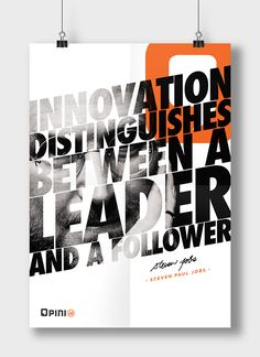 Bold Typographic Posters Featuring Quotes From Steve Jobs, Other Great Leaders - DesignTAXI.com