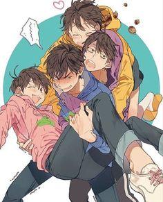 Osomatsu-san- Karamatsu, Ichimatsu, Jyushimatsu, and Todomatsu #Anime「♡」