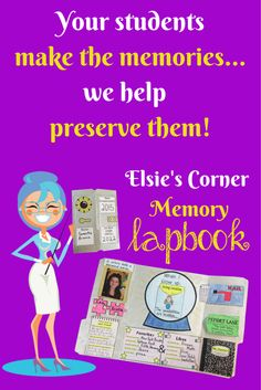 Elsie's Lapbook will preserve your students memories, record their predictions for the future and ultimately become one of their most treasured possessions!
