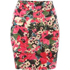 Therapy Bright floral tube skirt ($6.81) ❤ liked on Polyvore featuring skirts, bottoms, saias, faldas, red floral skirt, red tube skirt, tube skirt, floral printed skirt and floral print skirt