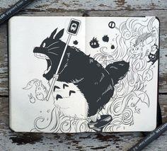 #68 My Neighbor Totoro by 365-DaysOfDoodles on deviantART