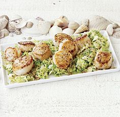 Sea Scallops with Brussels Sprouts and Mustard Sauce