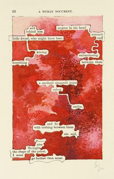 """with-hershadow: """"likeafieldmouse: """" Tom Phillips - A Humument """"In 1966 Phillips set himself a task: to find a second-hand book for threepence and alter every page by painting, collage and. Tom Phillips, Poesia Visual, Found Poetry, Poetry Art, Poetry Quotes, Quotes Quotes, Book Page Art, Blackout Poetry, Altered Book Art"""