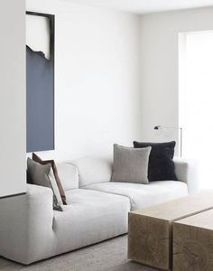 simple interior in a minimal living room