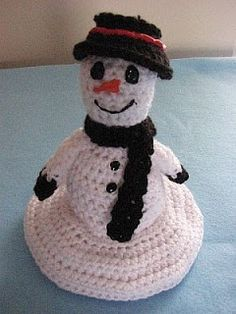Donna's Crochet Designs Blog of Free Patterns: Free Crochet Pattern Melting Snowman