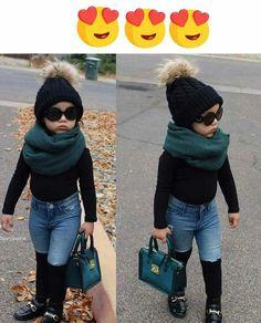 Little girl fashion baby noemi Girls Fall Fashion, Cute Kids Fashion, Little Girl Fashion, Toddler Fashion, Winter Fashion, Toddler Girl Style, Toddler Girl Outfits, Baby Outfits, Toddler Dress