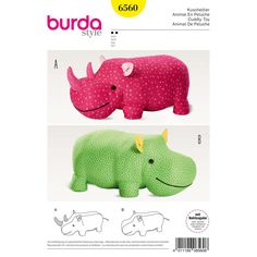 Big rhino or hippo stuffed animals for little kids. They're great to cuddle but also to climb and sit on!