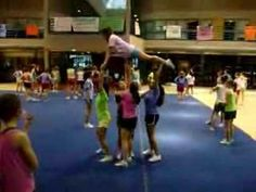 Varsity Pyramid Stunt - YouTube