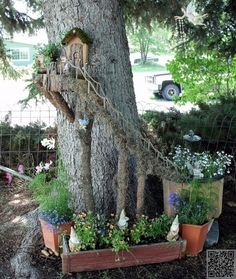 19. Go All out - 48 #Fantastic Fairy Gardens for Your Yard ... → #Gardening #Fairy