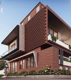 House Structure Design, House Front Design, Facade Design, Classic House Exterior, Modern Exterior House Designs, Modern House Design, Modern Architecture House, Facade Architecture, Residential Architecture