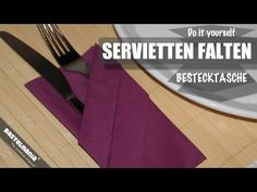 Servietten falten - Bestecktasche / Napkin Folding - cutlery bag - YouTube