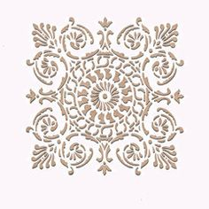 Small Palermo Tile Wall Stencil  - going to use this stencil for the bathroom upstairs... Winter project planning...