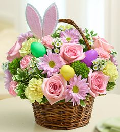 Easter Egg Basket with Flowers | 1800FLOWERS.COM-95193