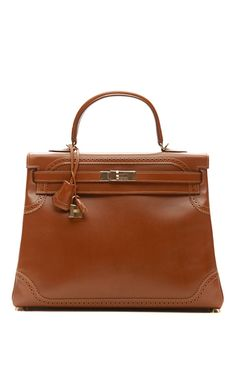 35Cm Fauve Tadelakt Leather Ghillies Kelly by Heritage Auctions Special Collections for Preorder on Moda Operandi