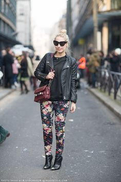 flower pants  from Stockholm streetstyle