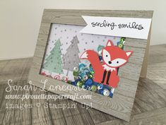 Foxy Friends Shaker Card Stampin' Up!