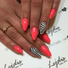 92 Most Gorgeous Attractive Pink Nails Idea For Prom And Weekend Party - Page 11 of 92 - Diaror Diary Fancy Nails, Trendy Nails, Love Nails, My Nails, Black Acrylic Nails, Summer Acrylic Nails, Summer Nails, Acrylic Nail Designs, Nail Art Designs