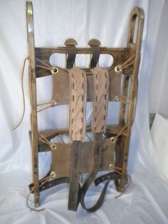 1860s trapper pack frame under 5 lb fully adjustable suspension brass scuff guards