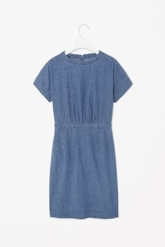Cos Chambray Dress in Blue (Sapphire) | Lyst