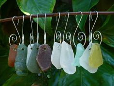 NATURAL ELEMENTS... sea glass ornaments, West Palm Beach, Florida, (via Etsy)