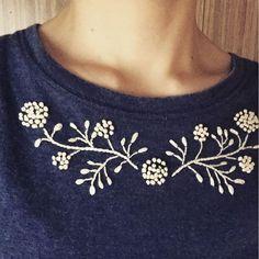今日はこれで行こう! Today's uniform. #刺しゅうdays #カサデチャ #刺繍 #embroidery (図案は樋口愉美子さん)