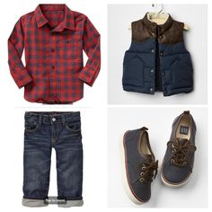 Toddler boy - Christmas tree farm - family photos - outfit