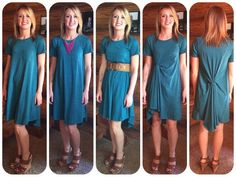 Carly - dressed down, dressed up, belted or tied! Lularoe Carly Dress, Lularoe Dresses, Style Lularoe Carly, Carly Lularoe Styling, Lula Roe Outfits, Mom Style, Girl Style, Queen, Cute Outfits