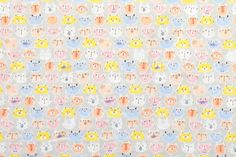 Japanese Fabric double gauze kitty D 50cm by MissMatatabi