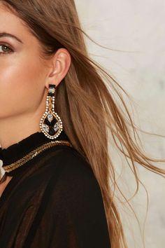 Nell Rhinestone Earrings | Nasty Gal