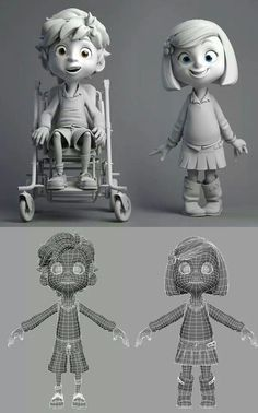 Cartoon and Animation Character Design Cartoon, 3d Model Character, Kid Character, Character Modeling, Character Creation, Character Design References, Character Design Inspiration, Character Concept, 3d Character Animation
