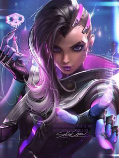 Sombra from Overwatch by Sakimi chan