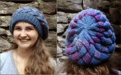 Entrelac Beret Knitting Pattern, source Lionbrand.com | Entrelac Knitting Patterns