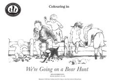 We're Going on a Bear Hunt Colouring In Pages