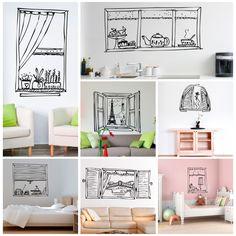 Os presentamos nuestra nueva colección de vinilos decorativos de VENTANAS. Dibujos muy originales para darle amplitud a tus estancias.