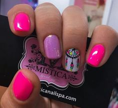 Gorgeous Nails in Shades of Pink & a Dream Catcher! Pedicure Nail Designs, Pedicure Nails, Toe Nail Designs, Toe Nails, Fabulous Nails, Gorgeous Nails, Pretty Nails, Acrylic Toes, Short Nail Manicure