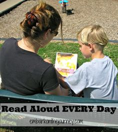 Foster a love of reading in your child by reading aloud every day!