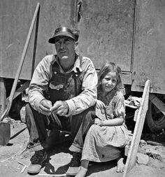 Drought refugees in California migrant camp. By Dorothea Lange, 1936.