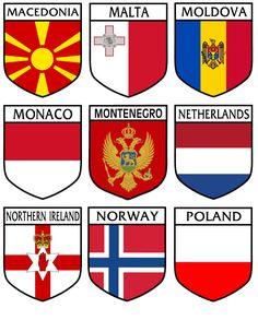 Moldova, Macedonia, Northern Ireland, Malta, Norway, Flag, Stickers, Cards, Malt Beer
