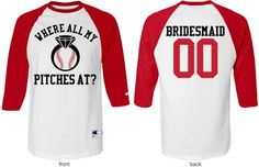 Bachelorette Party Baseball Game Jersey you can personalize!
