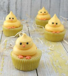 baby chick easter cupcakes