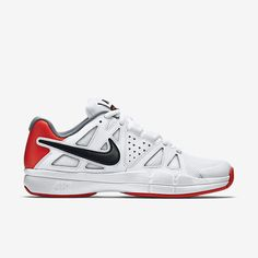 6a7019eb035 Nike Court Air Vapor Advantage Mens Tennis Shoes White Black Crimson 599359  106