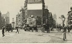 Before the Flatiron Building, about 1885 (NYPL)